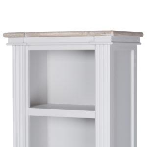 18884-b Tall Classic White Grey Bookcase