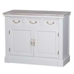18885 Classic Style White Grey Wooden Cabinet