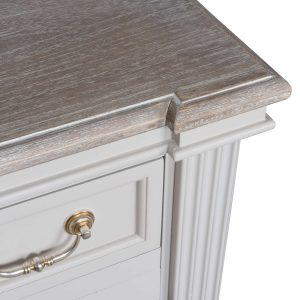 18885-a Classic Style White Grey Wooden Cabinet