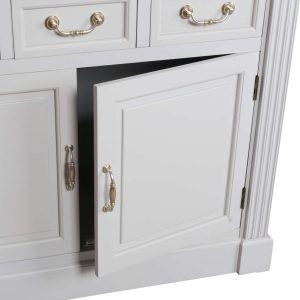 18885-c Classic Style White Grey Wooden Cabinet