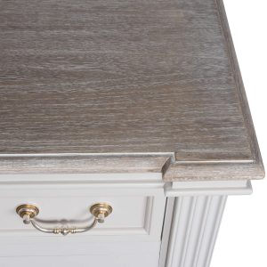 18885-d Classic Style White Grey Wooden Cabinet