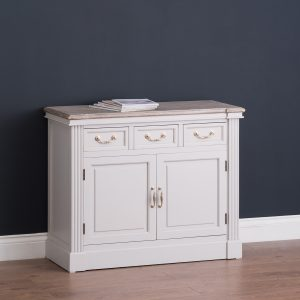 18885-e Classic Style White Grey Wooden Cabinet