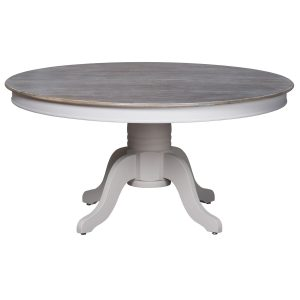 18887 Large Classic Grey Dining Round Table