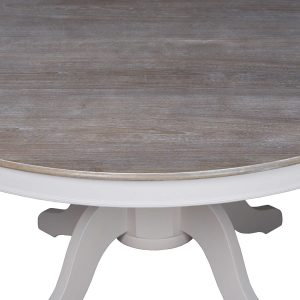 18887-a Large Classic Grey Dining Round Table