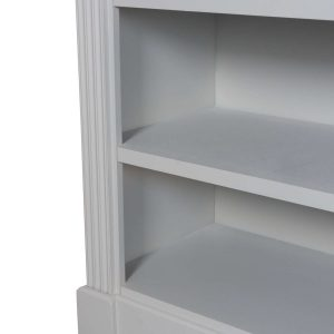 18891-c Classic Grey White Wooden Low Bookcase