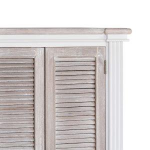 18893-c Tall White Grey Shoe Storage Cupboard