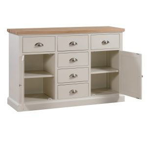 19329-a Large Farmhouse Style White Sideboard