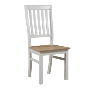 19330 Contemporary Farmhouse White Dining Chair