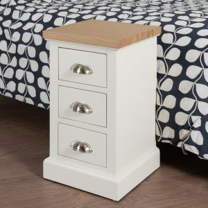 19333-d Farmhouse Style White Bedside Table