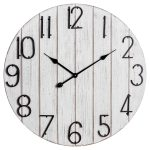 19480 Large Rustic Retro Style White Clock