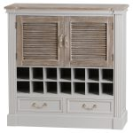 19638 Large Classic White Grey Drinks Cabinet