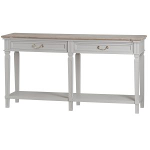 19639 Classic White Grey Drawers Console Table
