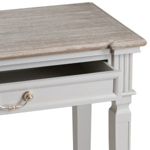 19639-a Classic White Grey Drawers Console Table