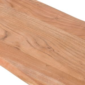 19744-a Contemporary Rustic Acacia Wood Grey Bench