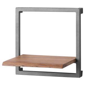 19752 Contemporary Rustic Wood Grey Square Shelf