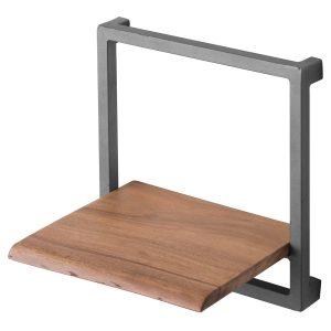 19752-a Contemporary Rustic Wood Grey Square Shelf
