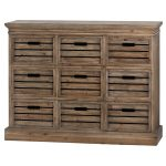 19814 Sturdy Crate Style Wooden Chest of Drawers