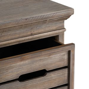 19817-a Crate Style Wooden Chest of 3 Drawers