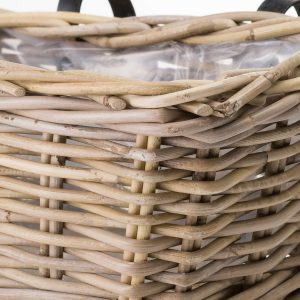 19931-b Handcrafted Rattan Basket Planter