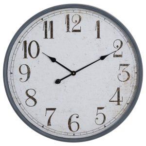 19932 Large Grey Vintage Style Station Clock