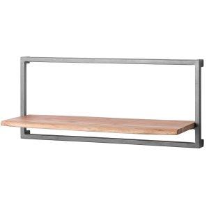 19984 Wide Contemporary Rustic Acacia Wood Shelf