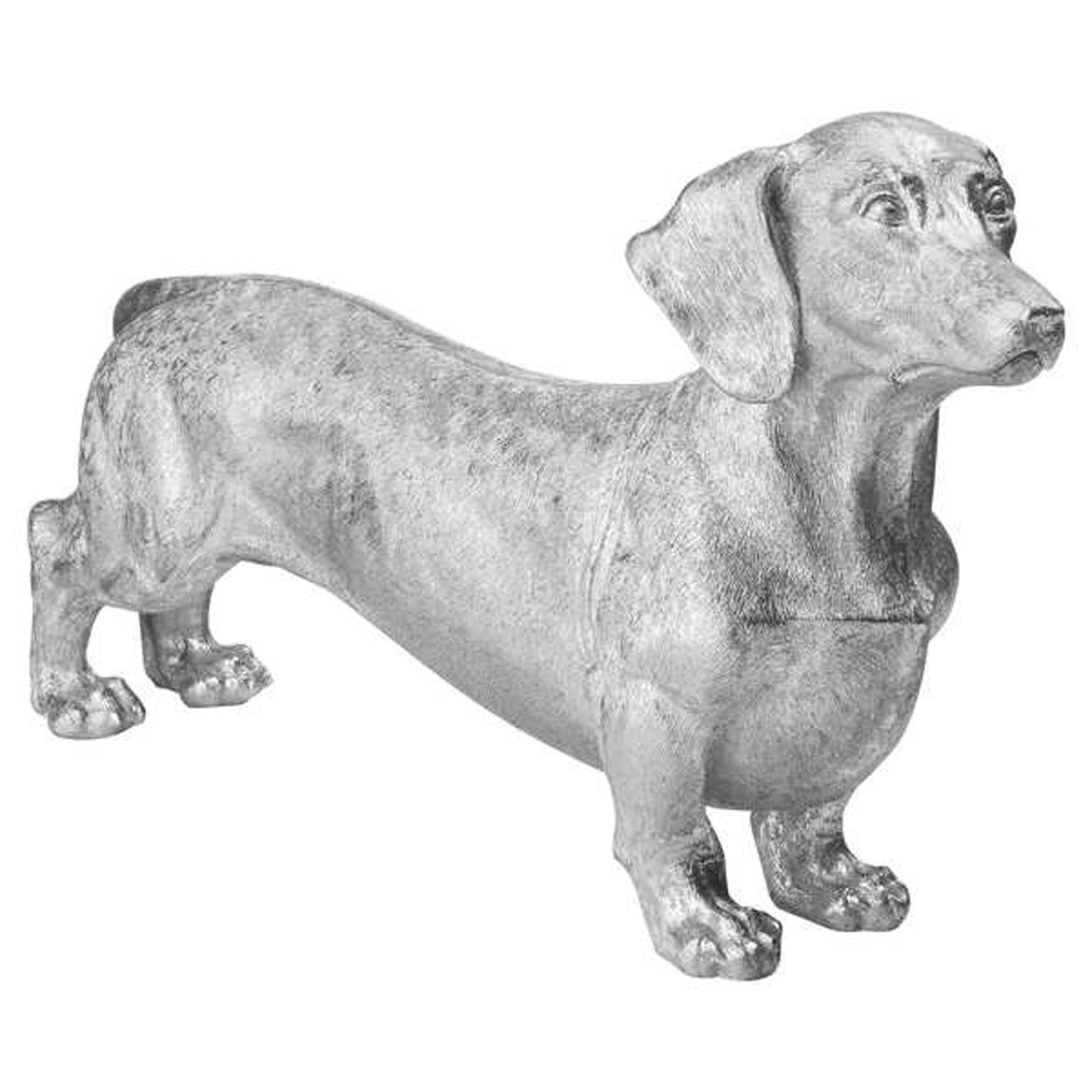 Antique Silver Dachshund Sausage Dog Ornament Interior Flair