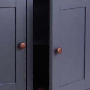 19993-a Slate Grey Industrial Copper Sideboard
