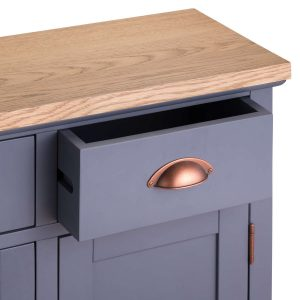 19993-b Slate Grey Industrial Copper Sideboard