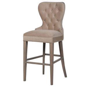 BEL021 Beige Upholstered Fabric Bar Cha