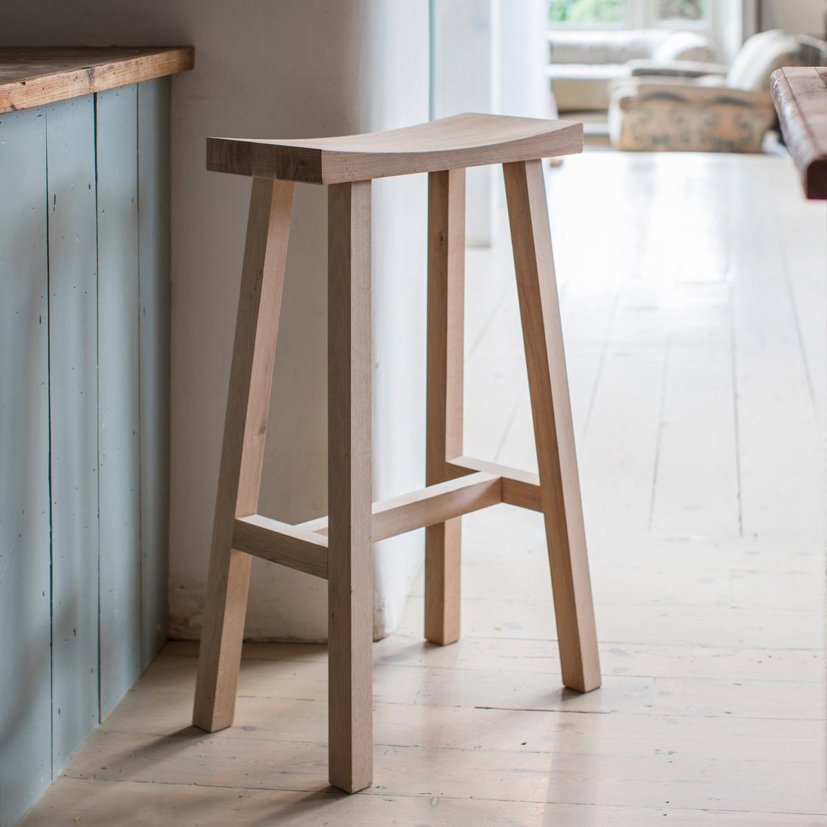 Fine Contemporary Raw Oak Wooden Bar Stool Ibusinesslaw Wood Chair Design Ideas Ibusinesslaworg