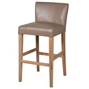 MEY492 Natural Taupe Leather Effect Bar Stool