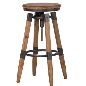 RYH075 Sturdy Industrial Style Round Bar Stool