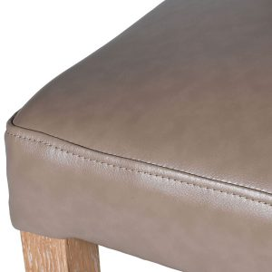 mey492_2_Natural Taupe Leather Effect Bar Stool