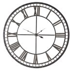 FUZ308 Extra Large Antiqued Iron Skeleton Clock