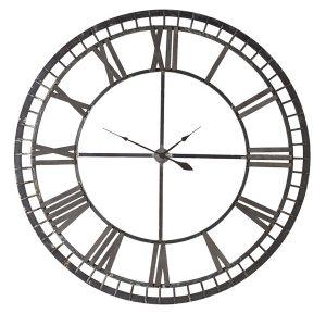 FUZ308 Extra Large Antiqued Iron Skeleton Clock