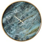 FXH009 Contemporary Style Marble Effect Wall Clock