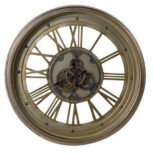 FXH012 Large Bronze Decorative Cogs Wall Clock