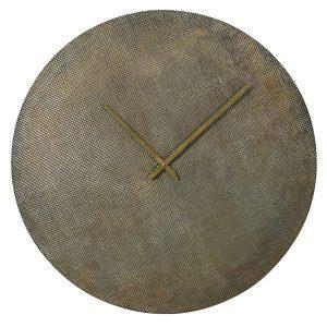 DO011 Textured Antique Brass Wall Clock