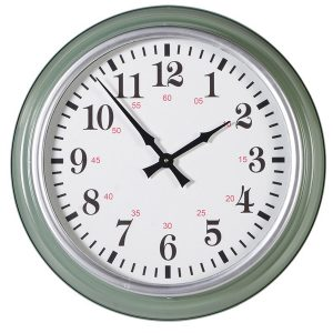 HMV010 Pale Green Deep Frame Wall Clock