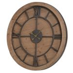 MJD008 Large Wooden Metal Wall Clock