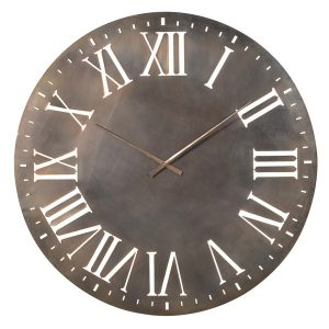 PCE191 Extra Large Grey White Wall Clock