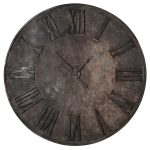 PCE231 Distressed Iron Metal 180 cm Wall Clock