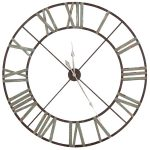 STN667 Extra Large Wrought Iron Wall Clock