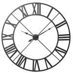 STN985 Extra Large Black Metal Outline Clock