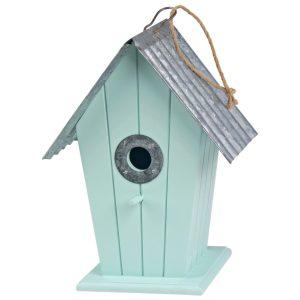 1258 Vintage Green Hanging Bird House
