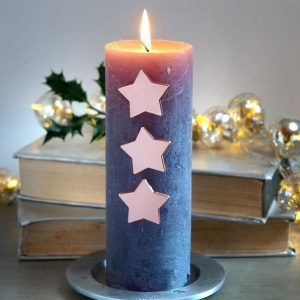 Star Rose Gold Candle Pins