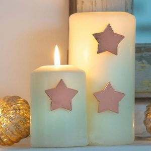 12AW14 a Star Rose Gold Candle Pins