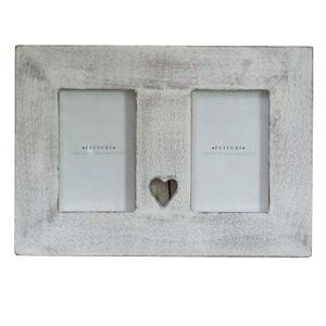 14SS67a Hand Made White Heart Photo Frame