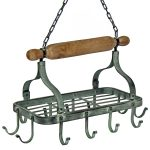 1521 Industrial Style Black Hanging Hook Rack