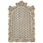 1566 Antique Style Cream Beige Notice Board